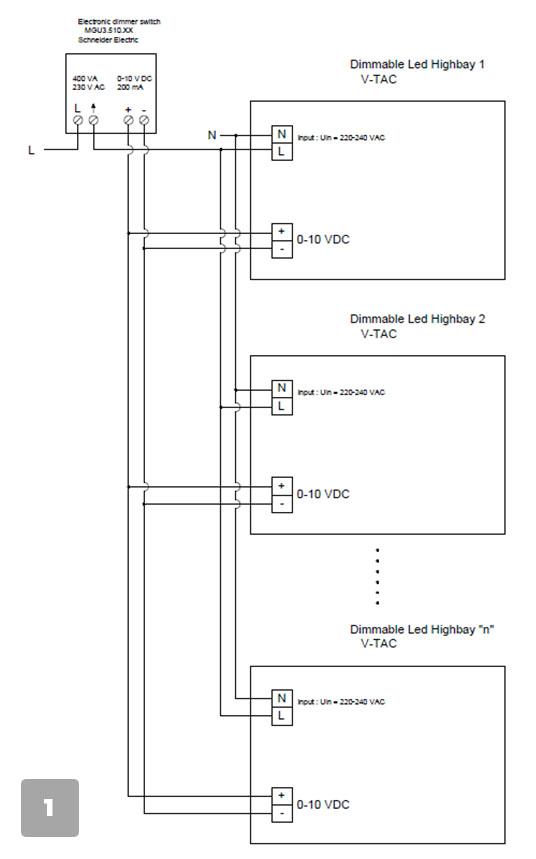 Посредством Димерен ключ 1-10 V